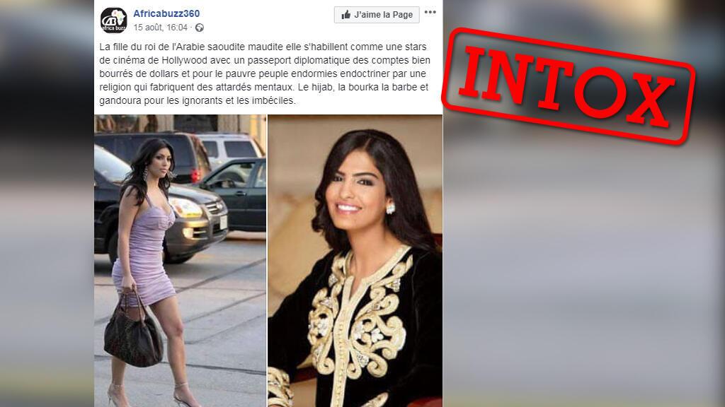 Est ce vraiment la fille du roi d'Arabie Saoudite citée dans cette publication ?