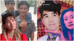 Family members of people detained in Chinese internment camps posted these videos on the Chinese version of TikTok. The videos were later shared on Twitter by @arslan_hidayat.