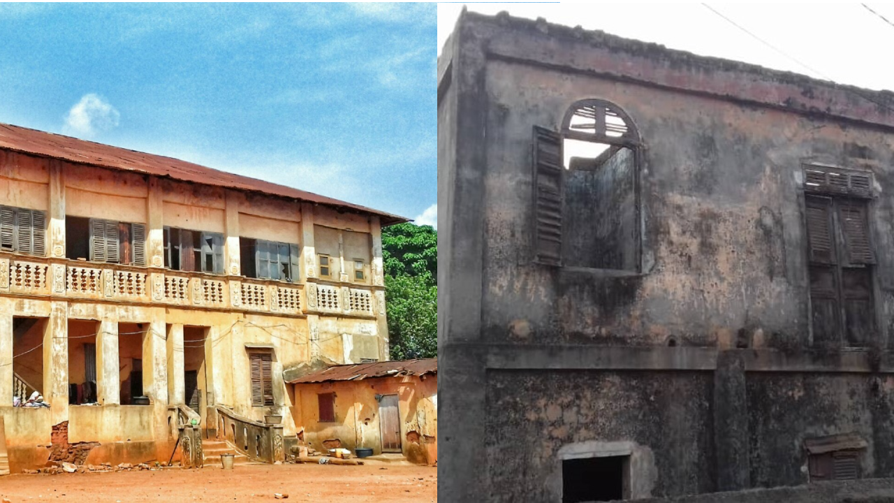 A social media user posted about the poor state of the historic Afro-Brazilian homes in Porto Novo.