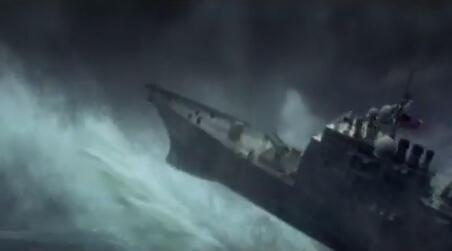 Screen grab from the propaganda video below.