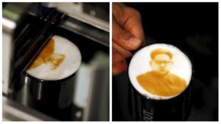 Des cafés latte à l'effigie de Kim Jong-un