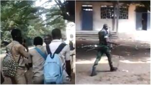 Des militaires de la marine ont été appelés en renfort dans un lycée d'Attécoubé, à Abidjan, pour empêcher les élèves de partir en congés anticipés.