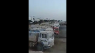 Capture d'écran de la vidéo montrant le système de contrebande d'essence à la frontière tuniso-libyenne
