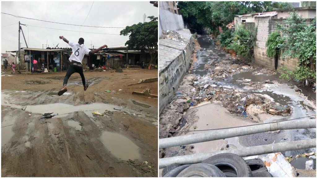 Photos envoyées par des habitants de Yopougan à Abidjan.