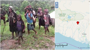 These images from the website Papuan Archive show the local population affected by the clashes between rebels and soldiers in Nguda.