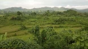 Il ne reste rien du village de Tula Toli, capture d'écran de la vidéo publiée par Shafiur Rahman