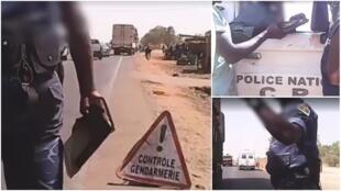 Captures d'écran de la vidéo en caméra cachée tournée par un journaliste burkinabè.