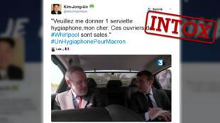 Une capture d'écran du documentaire de France 3 : Macron, la stratégie du météore.