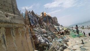 Les maisons du quartier de Guet N'Dar détruites par la montée des eaux. Toutes les photos ont été prises par Samba Diop