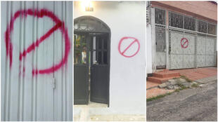 Several homes in San Antonio del Táchira, a Venezuelan town located on the Colombian border, were spray-painted in late February.
