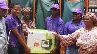 A prize for one of the households participating in the Wecyclers program. Photo posted to Wecyclers' Facebook page.