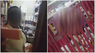 Captures d'écran des vidéos prises en caméra cachée par Landry Kouam, pharmacien.