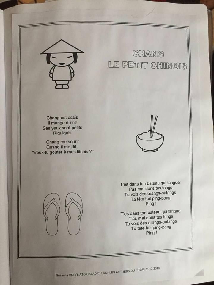 Les paroles de la chanson, partagées sur les réseaux sociaux, ont suscité l'indignation. Photo: Sacha Lin-Jung / Facebook.