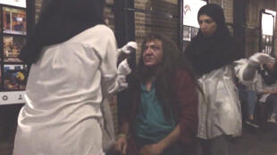 Saman Arastou's troupe performs in a café in Tehran. (Screengrab of video shown below)