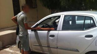 Parkingeur à Batna. Photo transmise par notre observateur Sofiane Benamira