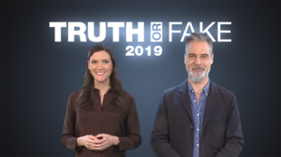 """""""Truth or Fake,"""" hosted by Derek Thomson and Claire Paccalin of the France 24 Observers, is a 9-minute show dedicated to debunking fake news."""