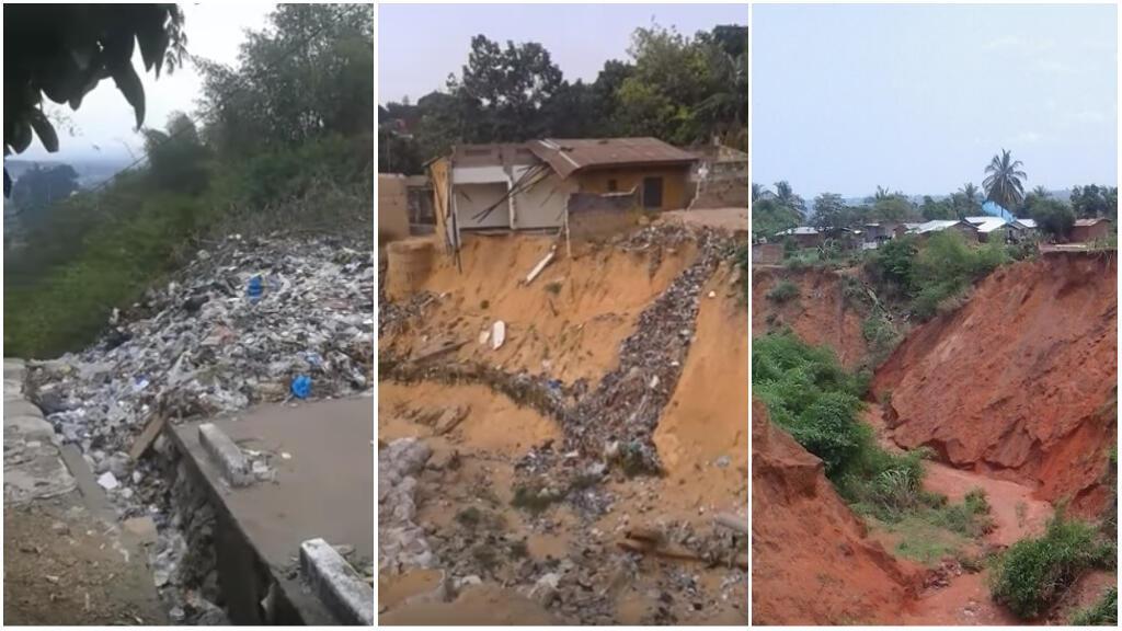 Les images à gauche et au milieu sont des captures d'écran de vidéos tournées par Michael Luzolo, la photo de droite a été prise par Felix Kabena, à Kinshasa, entre août et septembre2018.