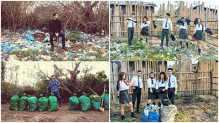 Plusieurs internautes partout dans le monde ont répondu à l'appel pour ramasser les déchets près de chez eux. Capture d'écran / réseaux sociaux.