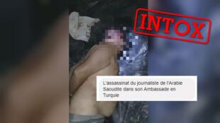 Capture d'écran de la vidéo partagée à tort sur WhatsApp comme montrant l'assassinat du journaliste saoudien Jamal Khashoggi.