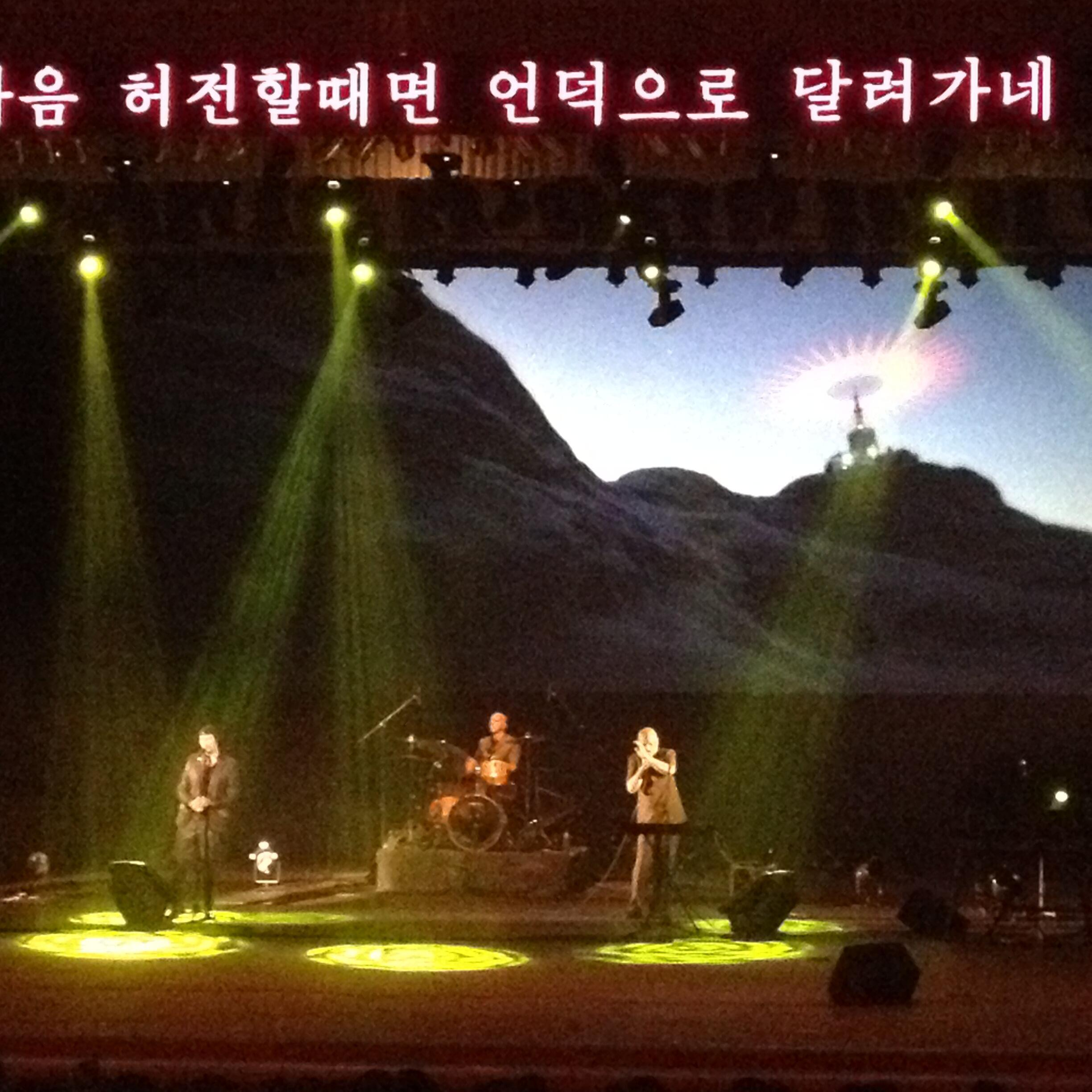 Concert by Laibach, 19 Aug, in Pyongyang. Photo by Simon Cockerell.