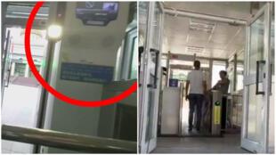 Une vidéo montre que les personnes souhaitant accèder à une mosquée du Xinjiang doivent passer par un scanner de reconnaissance faciale ; capture d'écran de la vidéo de Nihad Jariri