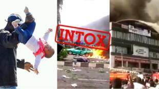 Plusieurs images ont été sorties de leur contexte et n'ont rien à voir avec les dernières violences en Afrique du Sud. Captures d'écran / Les Observateurs de France 24.