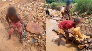 These children are washing ore in a gold mine in Kamituga in South Kivu.