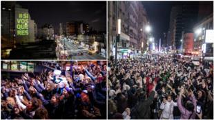 Depuis la fin du mois d'août, plusieurs personnes se sont réunies dans les rues de Buenos Aires pour faire campagne à leur façon. Crédit photos : #SiVosQueres.