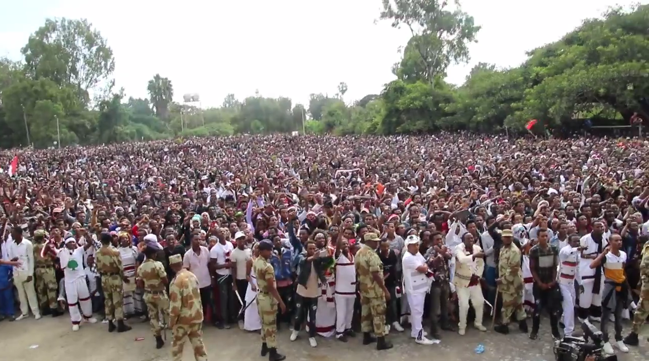 Screen grab of a video published by Jawar Mohammed, a US-based journalist who shares many videos linked to the Oromos.