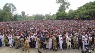 Capture d'écran d'une vidéo publiée par Jawar Mohammed, un journaliste installé aux États-Unis qui relaie activement tous les contenus amateurs relatifs au mouvement des Oromos.