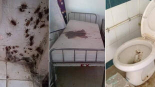 Photos of run-down Tunisian hospitals posted in the #BalanceTonHôpital Facebook group.