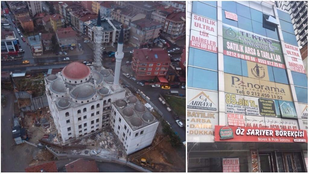"""A few examples of """"aesthetic catastrophes"""" in Istanbul, as identified by our Observer on his Twitter account."""
