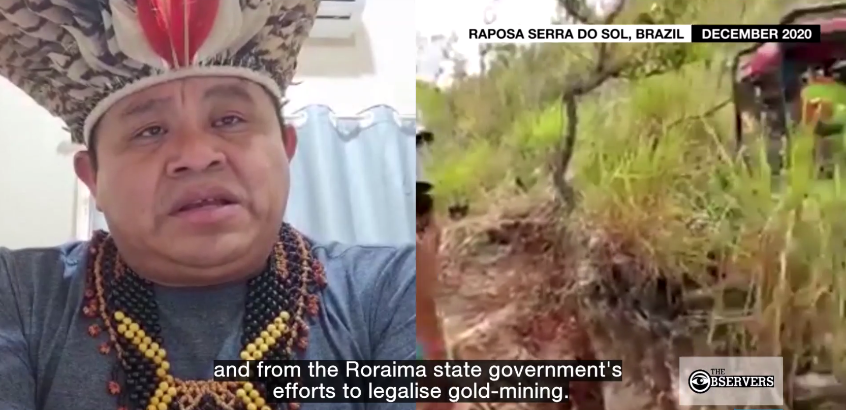 A group of indigenous leaders in Brazil are raising the alarm about the widespread illegal mining taking place in the country's indigenous territory, as documented in aerial photos showing vast mining camps on their land.
