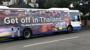An Air Asia ad that was criticised for promoting sex tourism in Thailand. (Photo: Melinda Liszewski)
