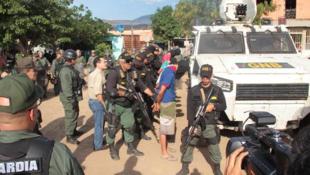 Photo publiée par les autorités de l'État de Táchira, le 23 août 2015.