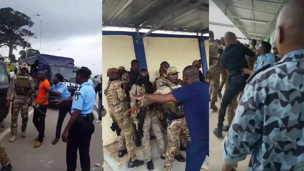 Plusieurs vidéos montrent une altercation entre militaires et policiers à Abidjan, le jeudi 19 septembre.