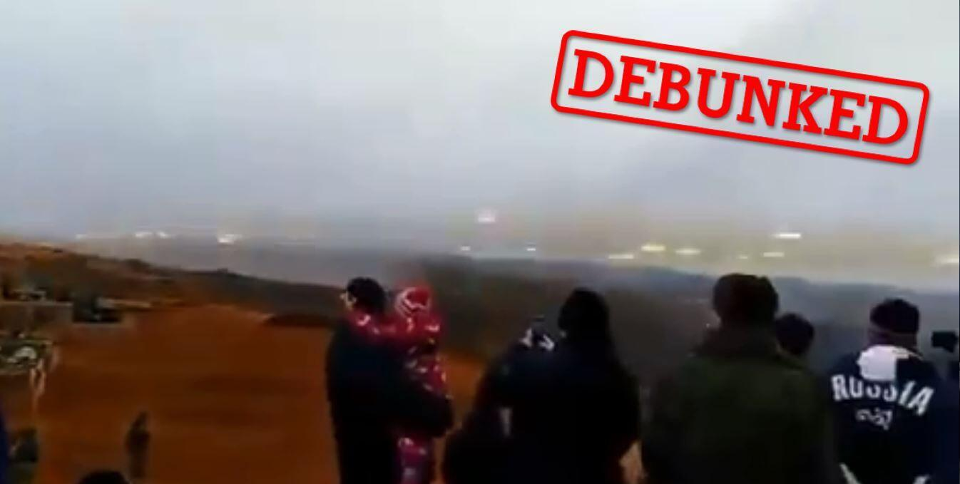 People have been sharing this video online, claiming it shows Iranian tourists watching exchanges of gunfire between Armenia and Azerbaijan. In reality, the video was filmed in Russia back in 2019.