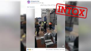 Le Parlement français emmuré par des gilets jaunes ? La vidéo est hors contexte.