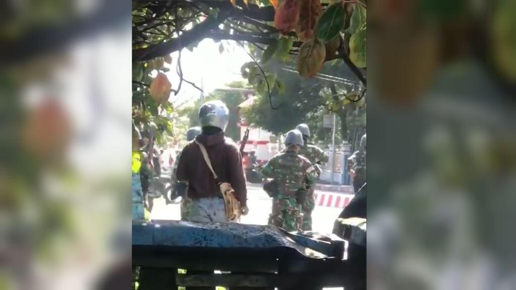 Capture d'écran de la vidéo filmée par notre Observatrice le 23 septembre.