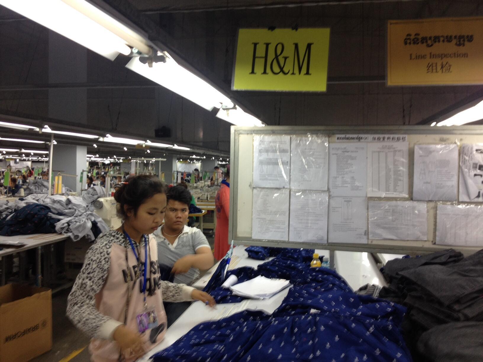 Une usine sous-traitante d'H&M au Cambodge