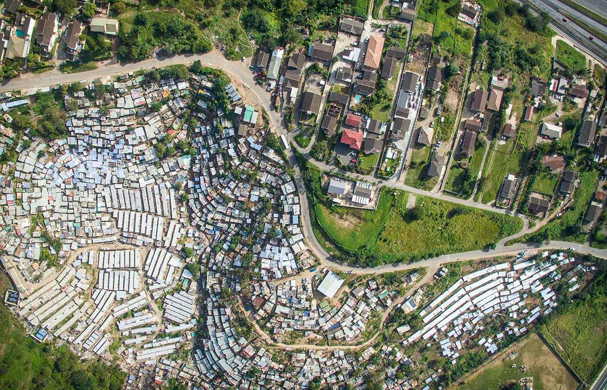 Photo prises à Durban. Crédit : Johnny Miller.