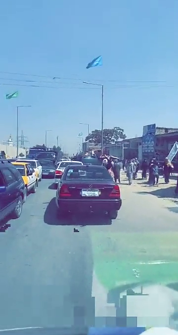 A video posted on Snapchat on August 15, 2021 shows residents of Kabul, in cars and on foot, fleeing the city.
