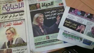 Plusieurs journaux algériens ont pris au sérieux une blague du Gorafi sur Marine Le Pen et un supposé projet de mur en la France et l'Algérie . Photo Twitter.