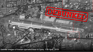 Several Israeli news sites published a satellite photograph that they said showed an Iranian military airfield inside Syria