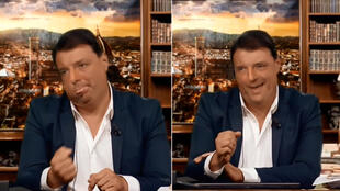 """A video supposedly showing former Italian Prime Minister Matteo Renzi insulting other politicians was broadcast on a satirical programme on Italian TV. It was in fact a """"deepfake""""."""