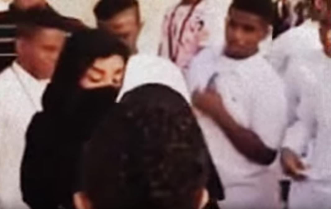 Women being harassed in Jeddah in 2015.