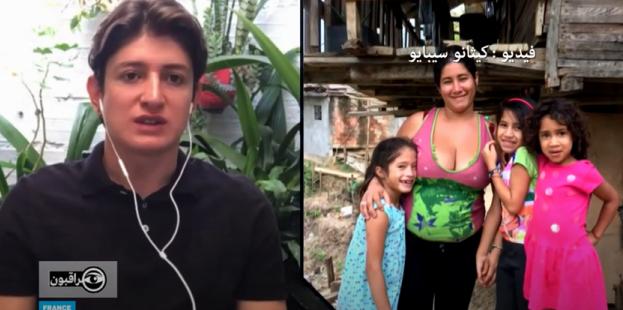 في كولومبيا يخرج أهالي الأحياء المتواضعة للمطالبة بمساعدات غذائية في ظل الحجر الصحي. صورة شاشة من حلقة برنامج مراقبون فرانس24.