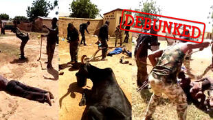 A video claiming to show foreign mercenaries attacking Fulani people in Mali circulated widely on social media.