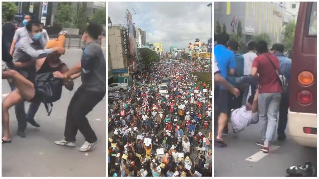 Des manifestations ont éclaté dans plusieurs villes du Vietnam les 9 et 10 juin. Une vidéo montre des altercations violentes entre manifestants et policiers en civil à Ho Chi Minh-ville circule sur Facebook