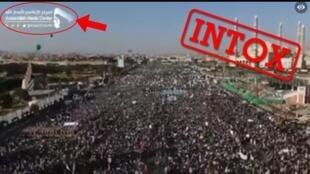 این اجتماع بزرگ در استانبول در سال ۲۰۲۰ رخ نداده است بلکه در سال ۲۰۱۹ به مناسبت تولد پیامبر اسلام در یمن برگزار شده است. عکس از صفحه فیس بوک.